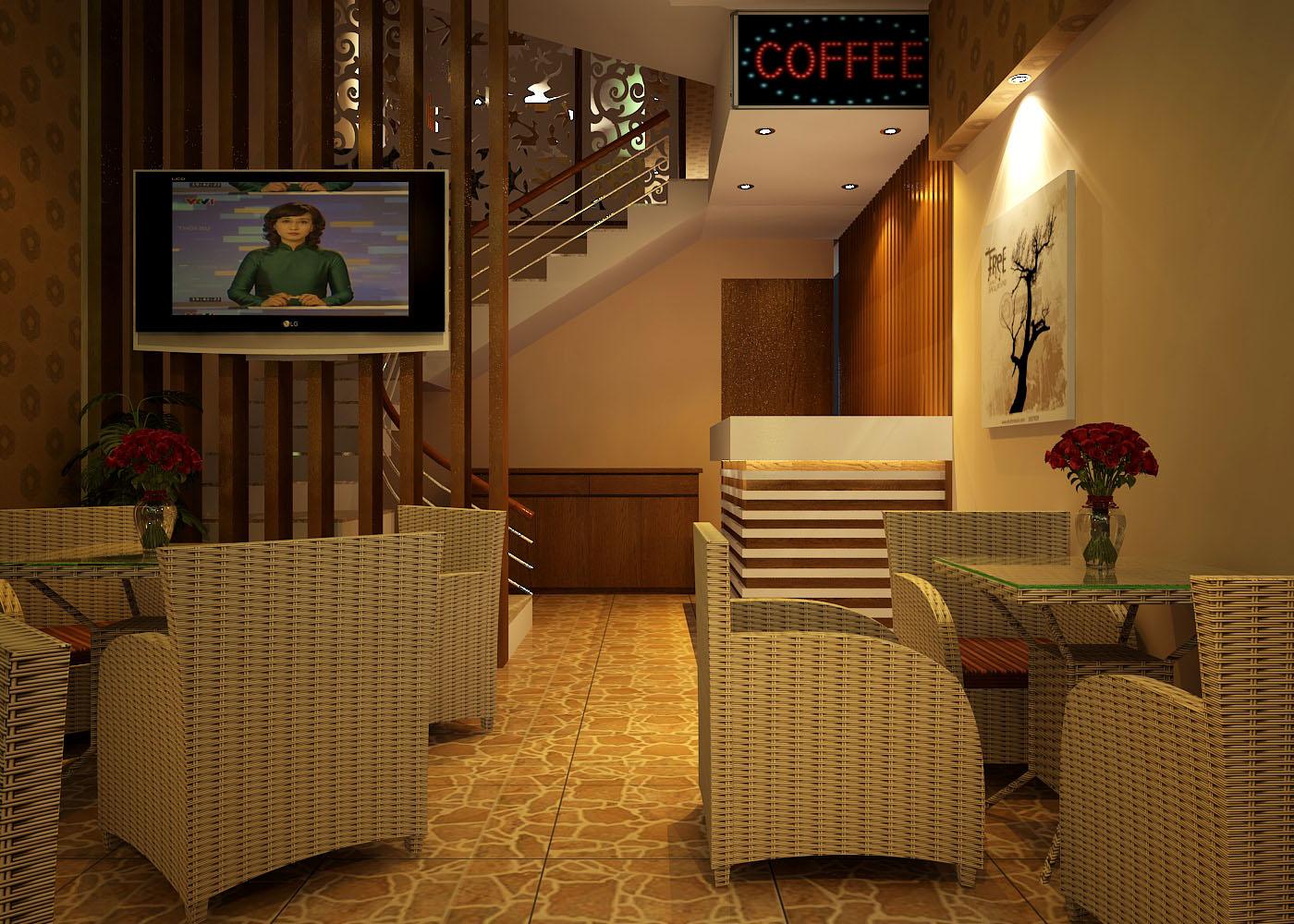Dịch vụ tư vấn thiết kế cafe ở biệt thự độc đáo, ấn tượng