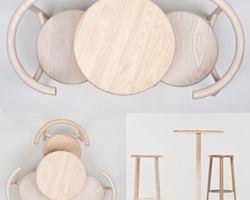 Bàn ghế cafe phong cách tối giản