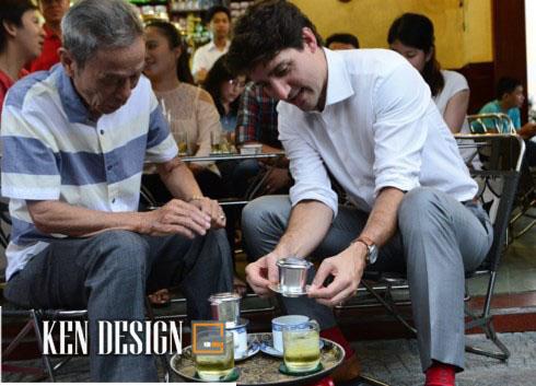 quán cafe vỉa hè sài gòn thủ tướng canada ghé uống