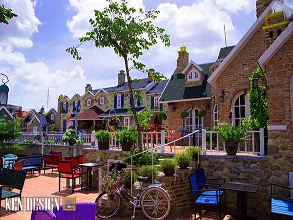 thiết kế quán cafe sân vườn tại HCM