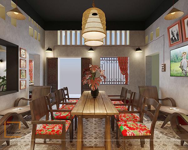 Chất cổ xưa được tạo nên bằng bàn ghế cafe phong cách vintage