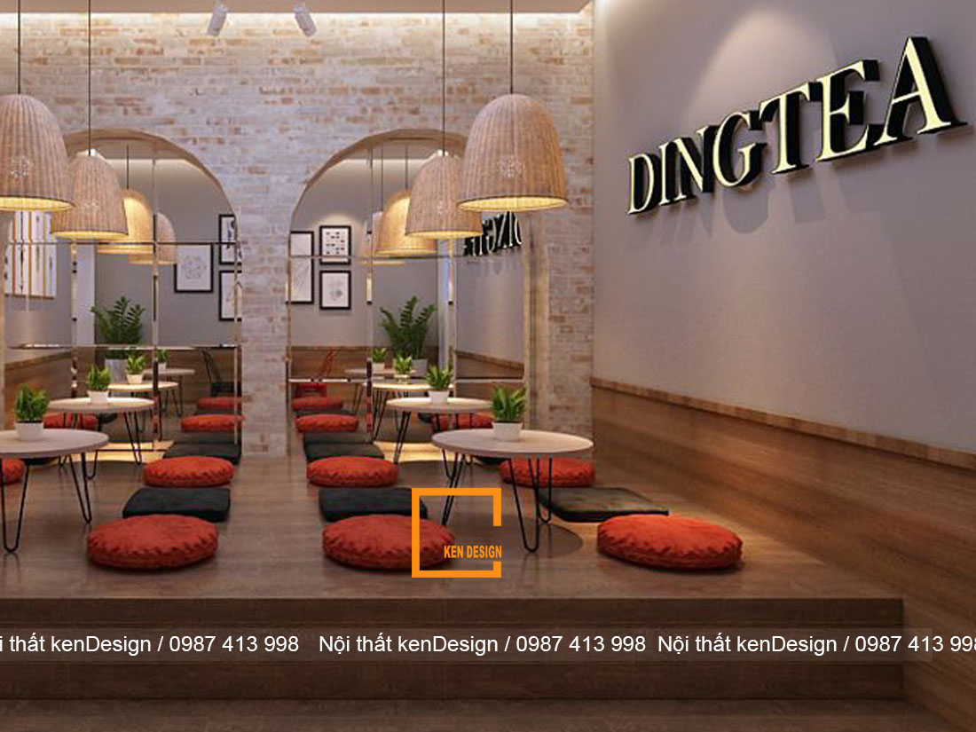 Bất ngờ trước thay đổi của thiết kế quán trà sữa Ding Tea Thái Nguyên