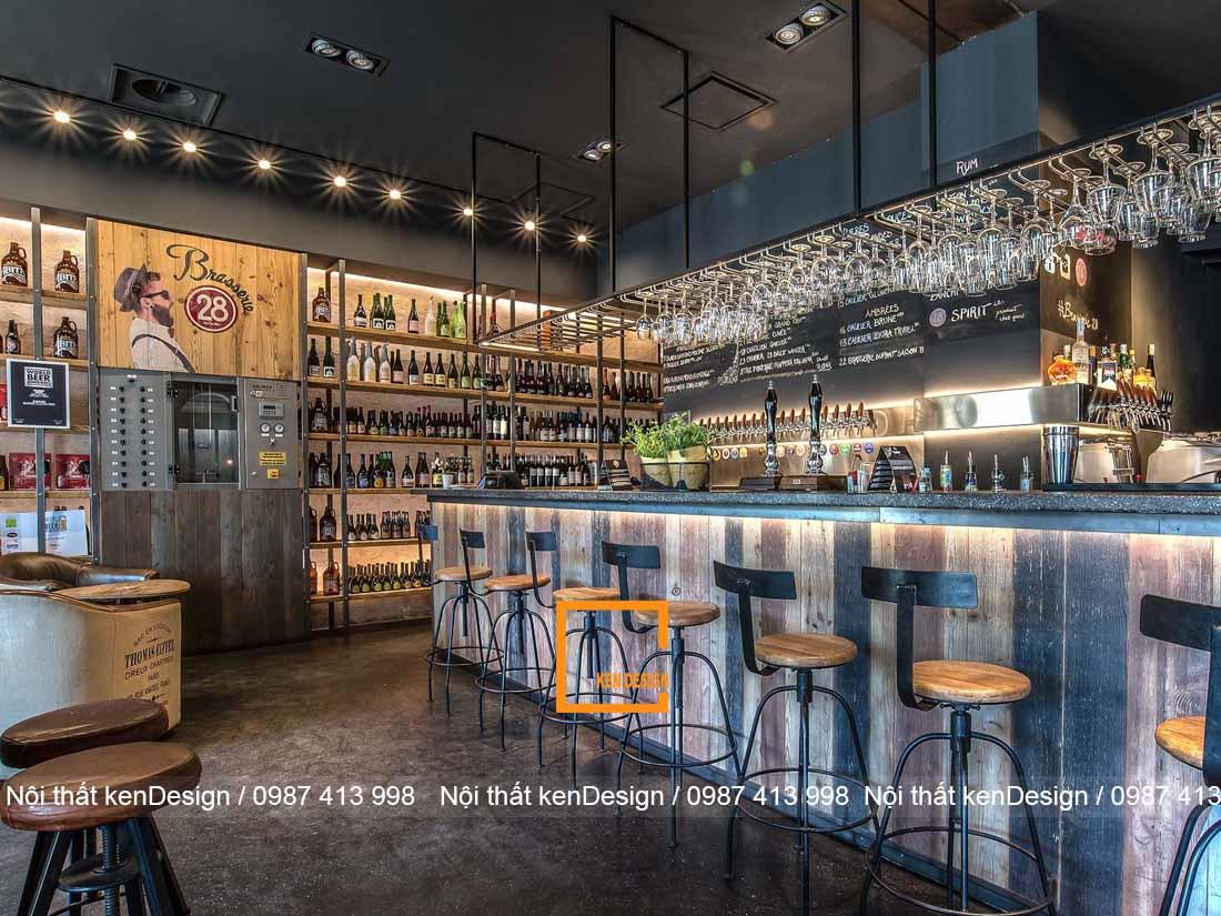 Những mẫu quầy bar ấn tượng cho thiết kế quán cafe phong cách