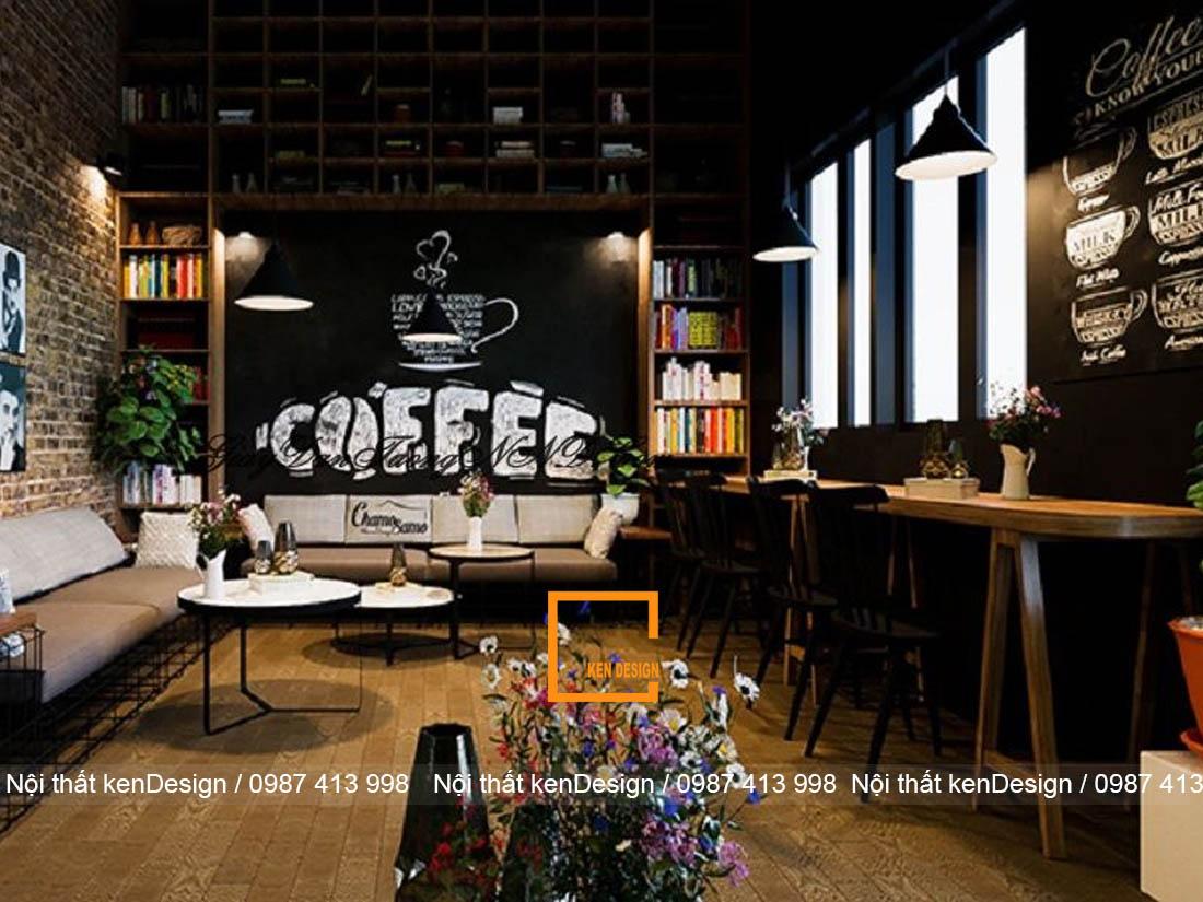 Thiết kế quán cafe bar theo phong cách công nghiệp