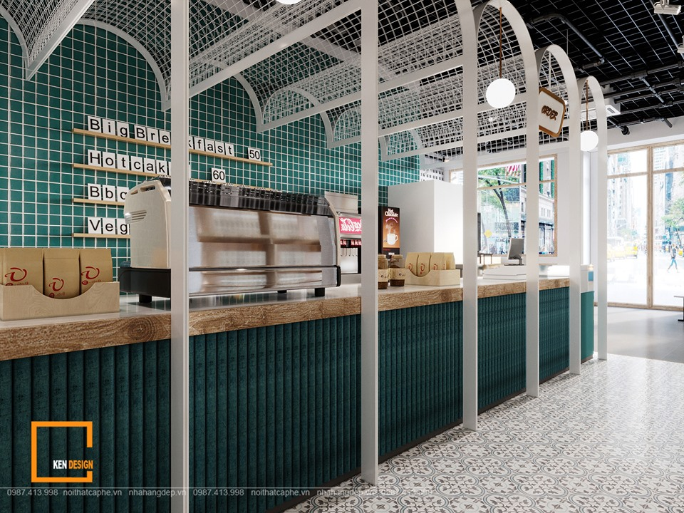 Hiện đại và công nghiệp – Sự kết hợp cho một thiết kế quán cafe sách đẹp