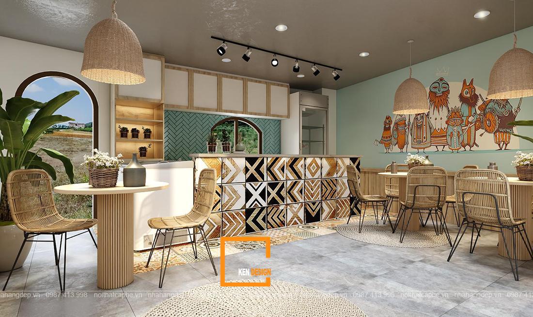 Thiết kế quán cafe và đồ ăn nhanh Halulu Ann food & drinks tại Phú Quốc