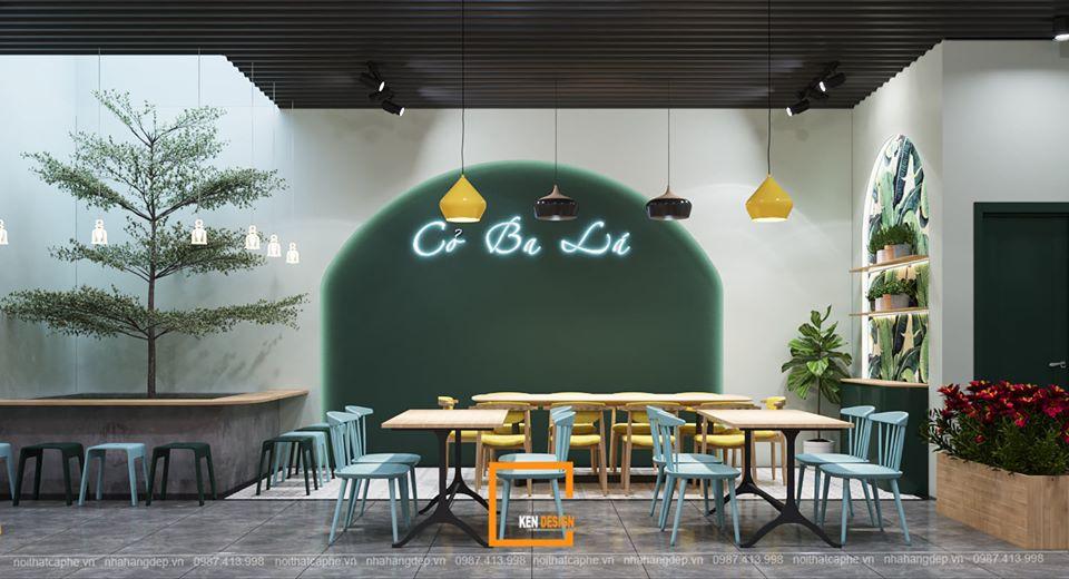 Thiết kế quán trà sữa Cỏ Ba Lá –  Khu rừng nhiệt đới giữa lòng hoang mạc