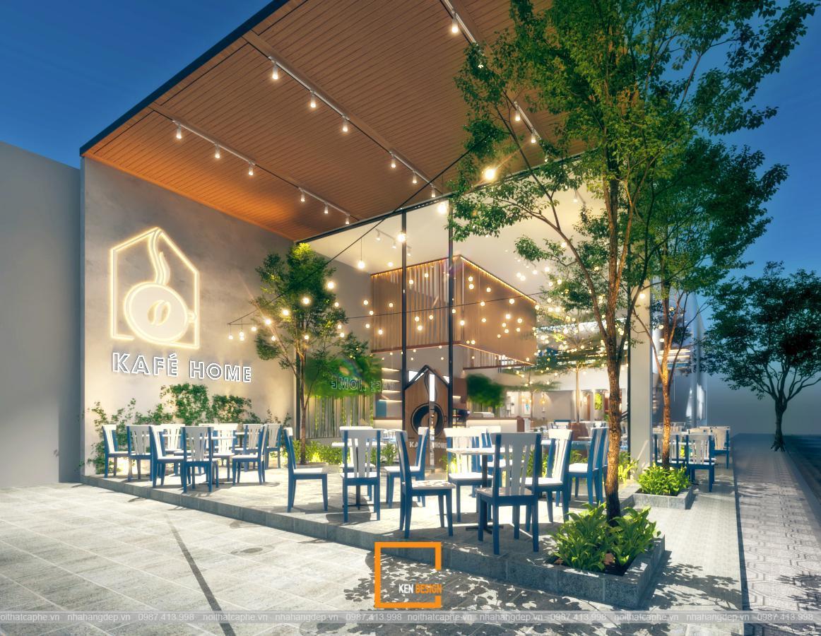 Thiết kế quán cafe Kafé Home: ngỡ ngàng với vẻ đẹp tựa tranh