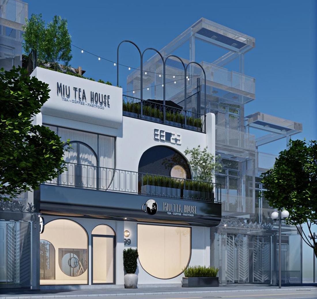 Thiết kế quán cafe thú cưng MIU TEA HOUSE tại Thái Bình
