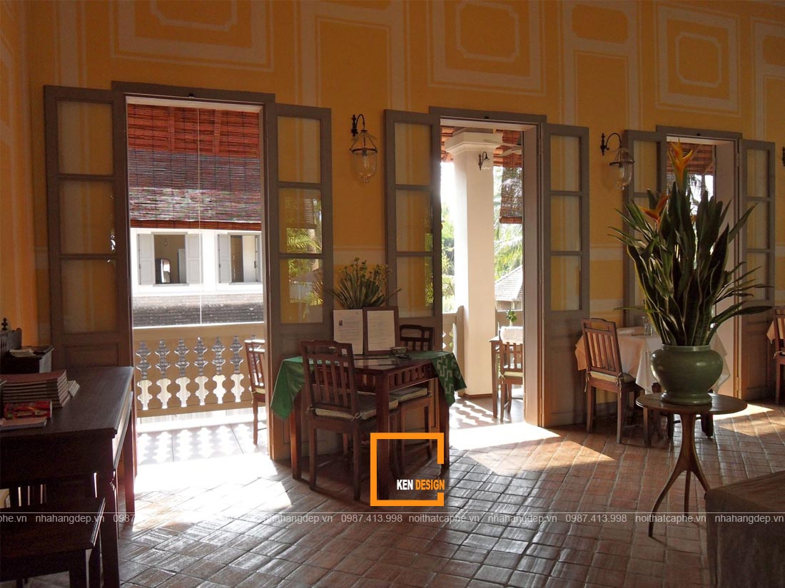 Thiết kế quán cà phê phong cách Đông Dương- Sự hòa quyện của vẻ đẹp Việt - Pháp