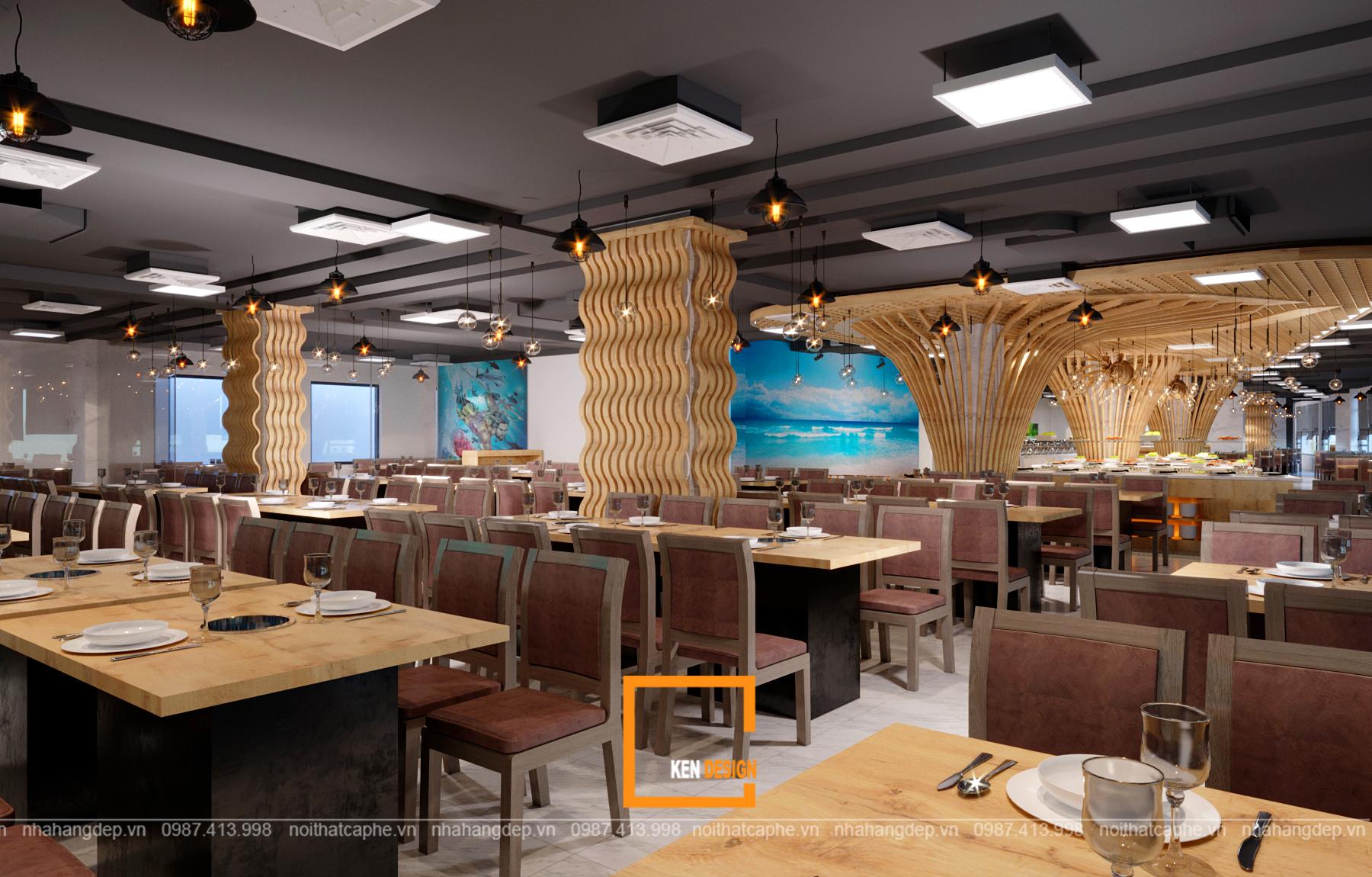 Có gì độc đáo trong thiết kế nội thất nhà hàng hải sản?