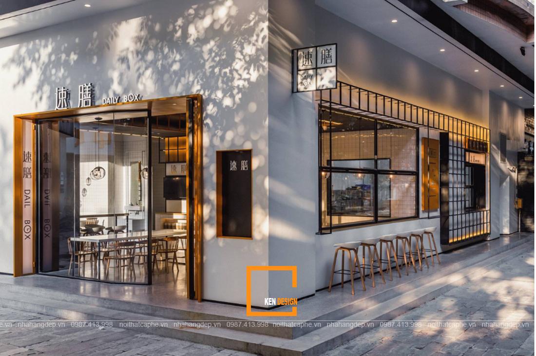 Những điểm nhấn làm nên thiết kế quán cafe 2 mặt tiền đẹp