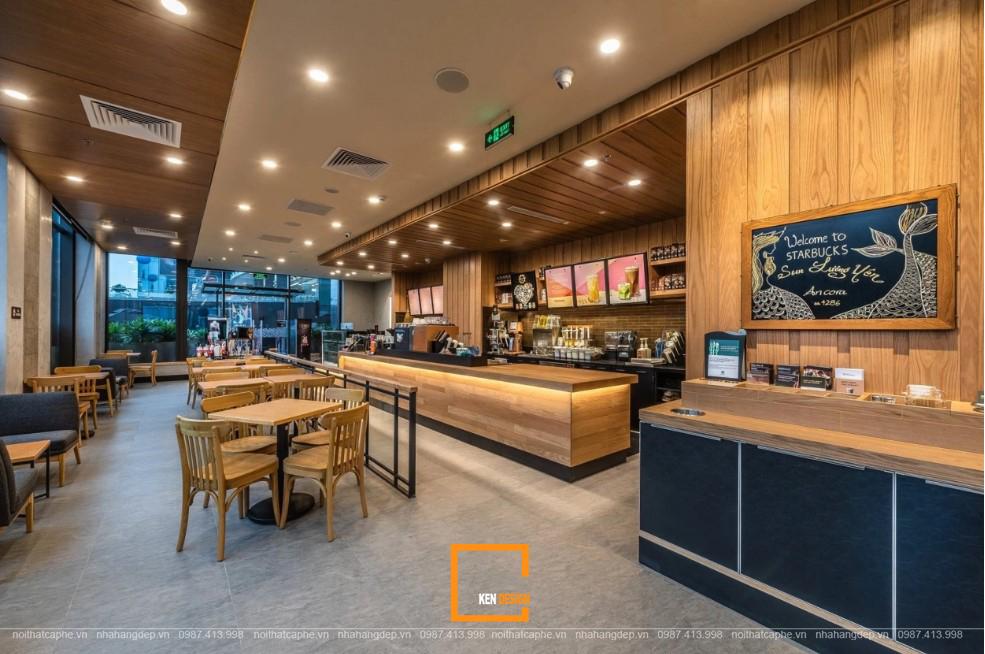 Khám phá những điểm hút khách trong nội thất quán cafe Starbucks