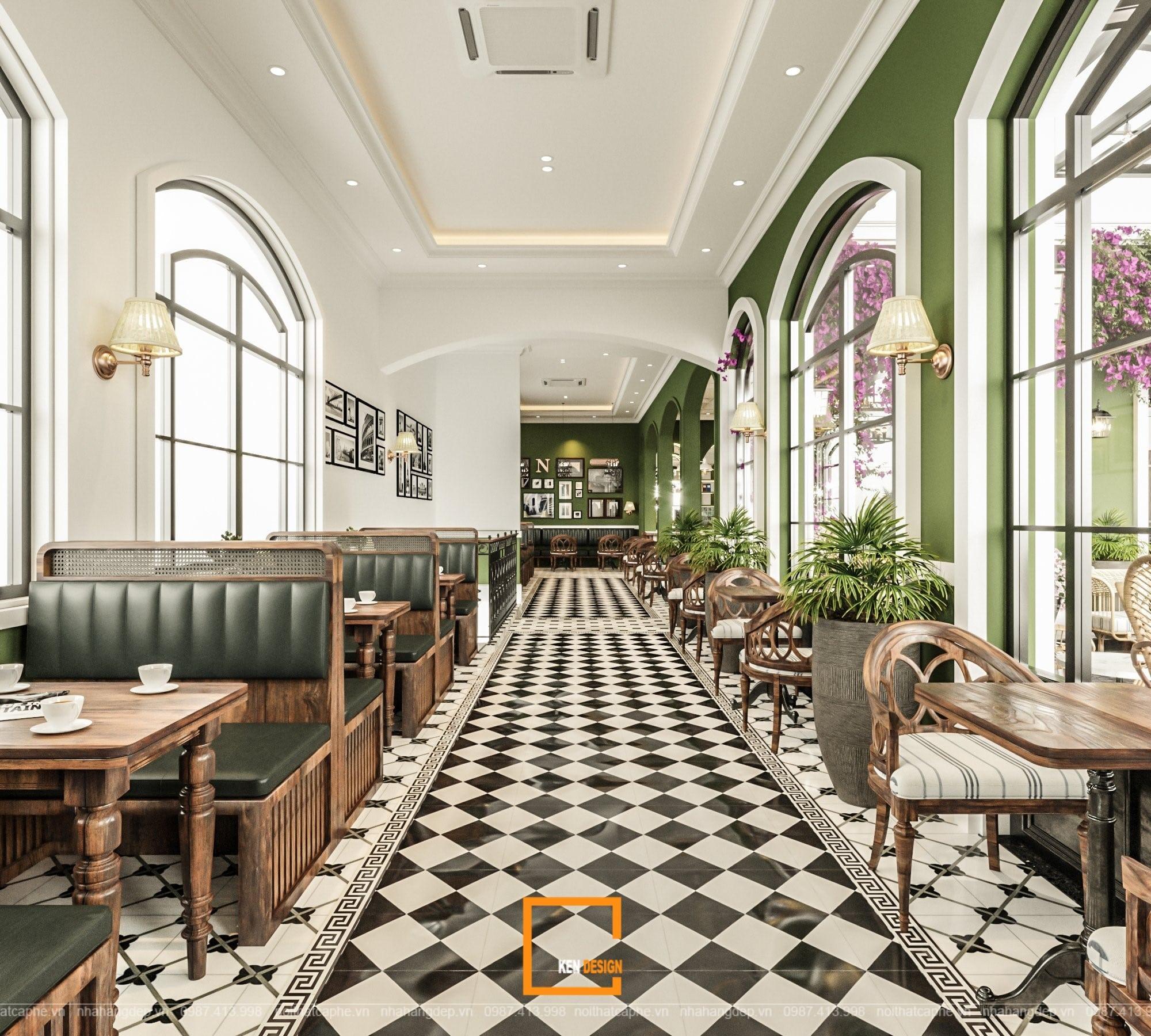Thiết kế quán Boutique Coffee - Phải lòng mùa xuân Nam Âu